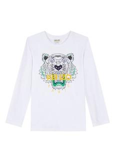 Kenzo Long-Sleeve Tiger Icon Tee  Size 2-6