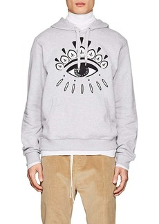Kenzo Men's Eye-Embroidered Cotton French Terry Hoodie