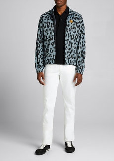 Kenzo Men's Leopard Jacquard Track Jacket