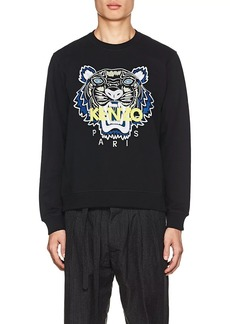 Kenzo Men's Logo Tiger-Embroidered Stretch-Cotton Sweatshirt