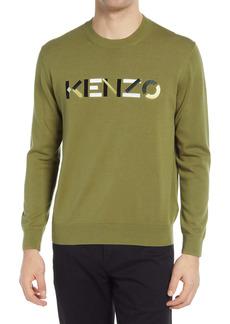 KENZO Men's Multico Embroidered Logo Crewneck Sweater