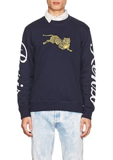 Kenzo Men's Tiger-Embroidered Cotton French Terry Sweatshirt