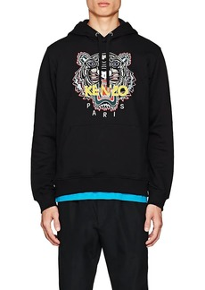 Kenzo Men's Tiger-Embroidered Cotton Hoodie
