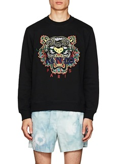 Kenzo Men's Tiger-Embroidered Cotton Sweatshirt