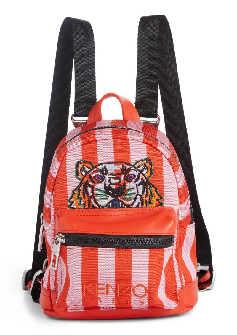 Kenzo Mini Kanvas Embroidered Tiger Stripe Backpack Handbags Bacpack