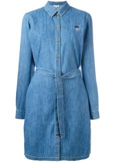 Kenzo Mini Tiger denim shirt dress - Blue