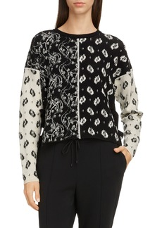 KENZO Mixed Pattern Tie High/Low Sweater