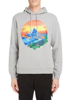 KENZO Mountain Graphic Cotton Hoodie