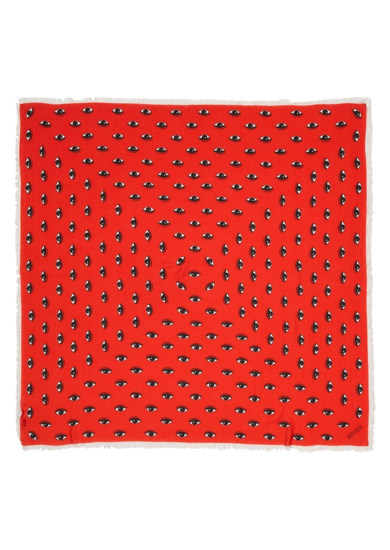 KENZO Multi Eyes Square Modal & Silk Scarf