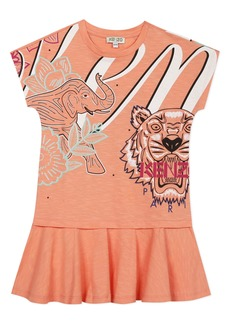 KENZO Multi Iconic Graphic Dress (Toddler, Little Girl & Big Girl)
