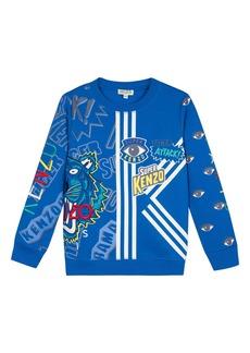 Kenzo Multi-Iconic Graphic Sweatshirt  Size 8-12