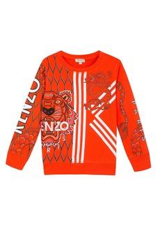 Kenzo Multi-Iconic Tiger & Dragon Graphic Sweatshirt  Size 2-6