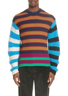 KENZO Multistripe Wool Blend Sweater