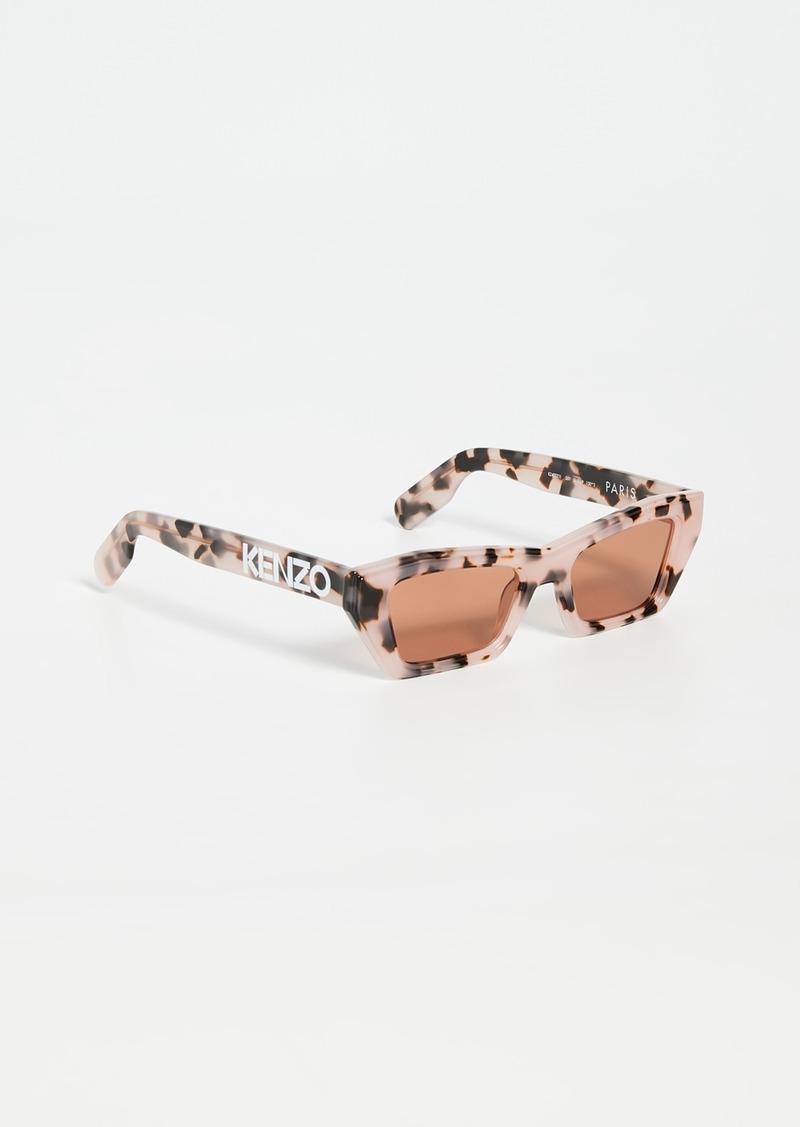 KENZO Narrow Rectangular Sunglasses