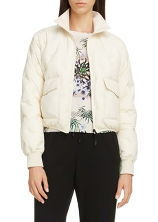 KENZO Packable Logo Embroidered Puffer Jacket