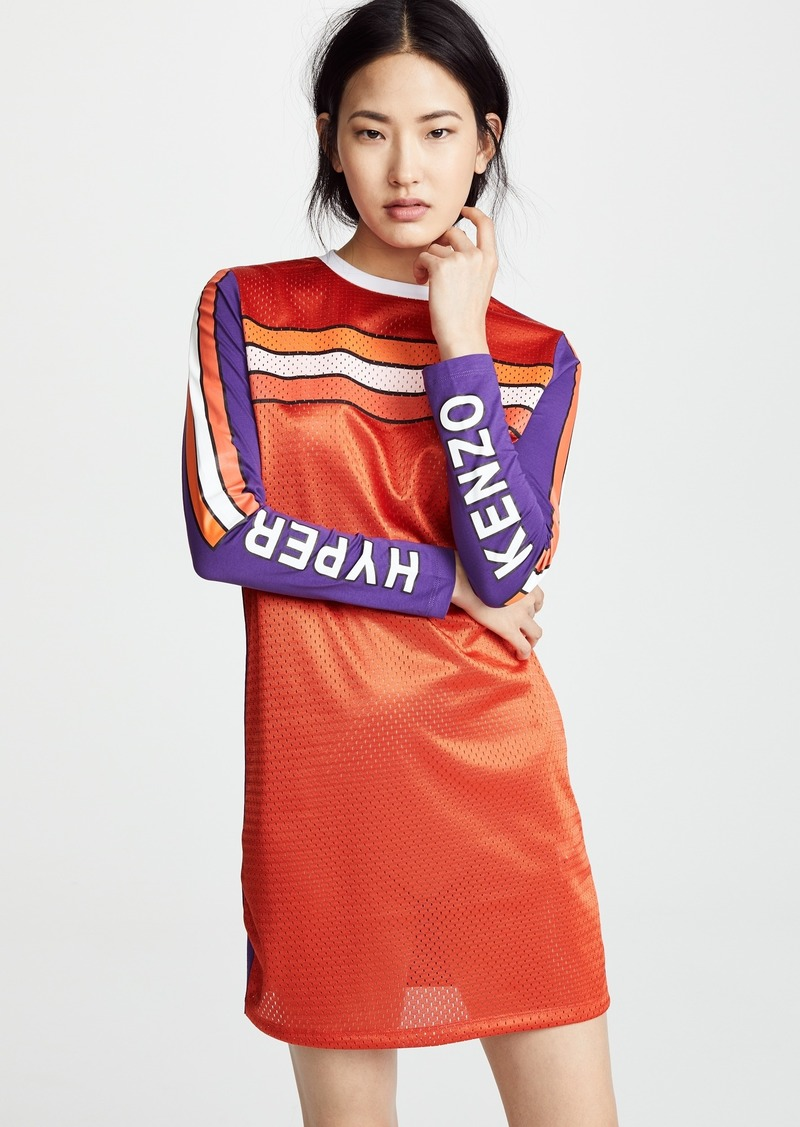 KENZO Patch Long Sleeve Dress