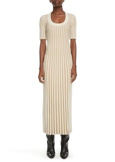 KENZO Pleated Midi Sweater Dress
