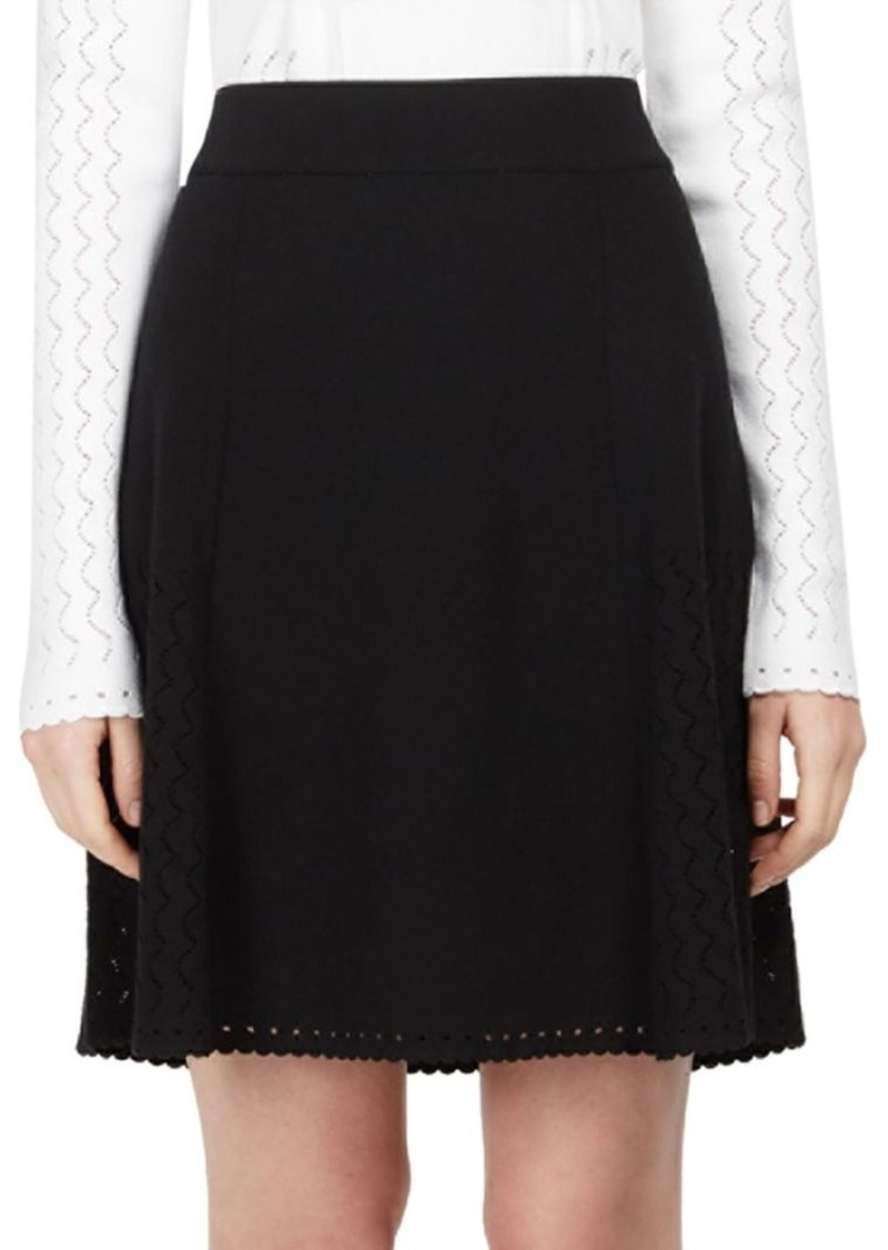 KENZO Pointelle Knit Flared Skirt
