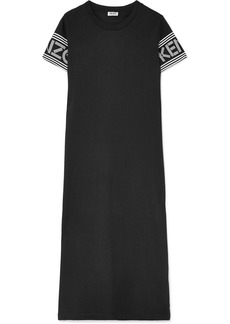 Kenzo Printed cotton-jersey midi dress