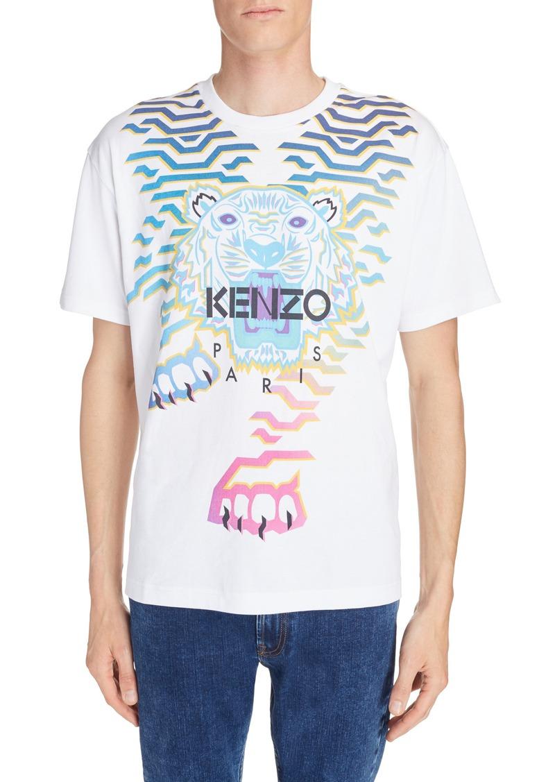 cb70f99d48 Rainbow Geo Tiger Graphic T-Shirt