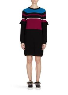 KENZO Ribbed Wool Sweater Dress
