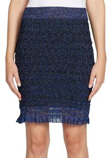 Kenzo Ruffle Lurex Knit Skirt