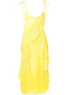 Kenzo ruffled midi dress - Yellow & Orange