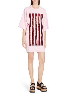KENZO Sequin Stripe Oversize T-Shirt Dress