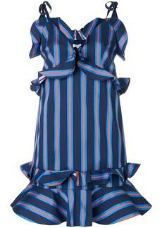 Kenzo short ruffled stripe dress