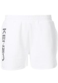 Kenzo side logo track shorts - White