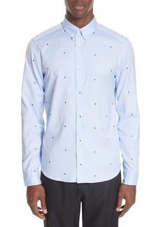 KENZO Slim Fit Print Sport Shirt