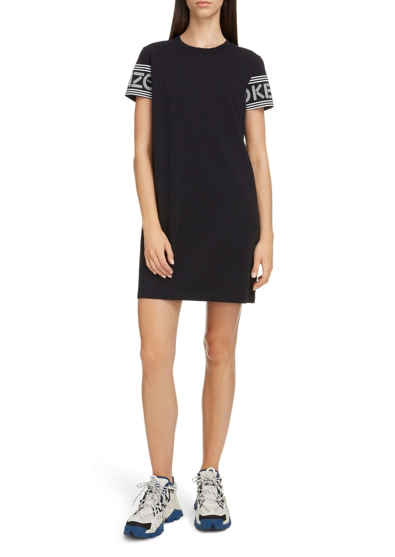 KENZO Sport Logo Sleeve T-Shirt Dress