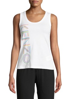 Kenzo Sporty Scoop-Neck Logo Tank Top