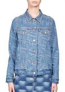 KENZO Striped Jacquard Denim Jacket