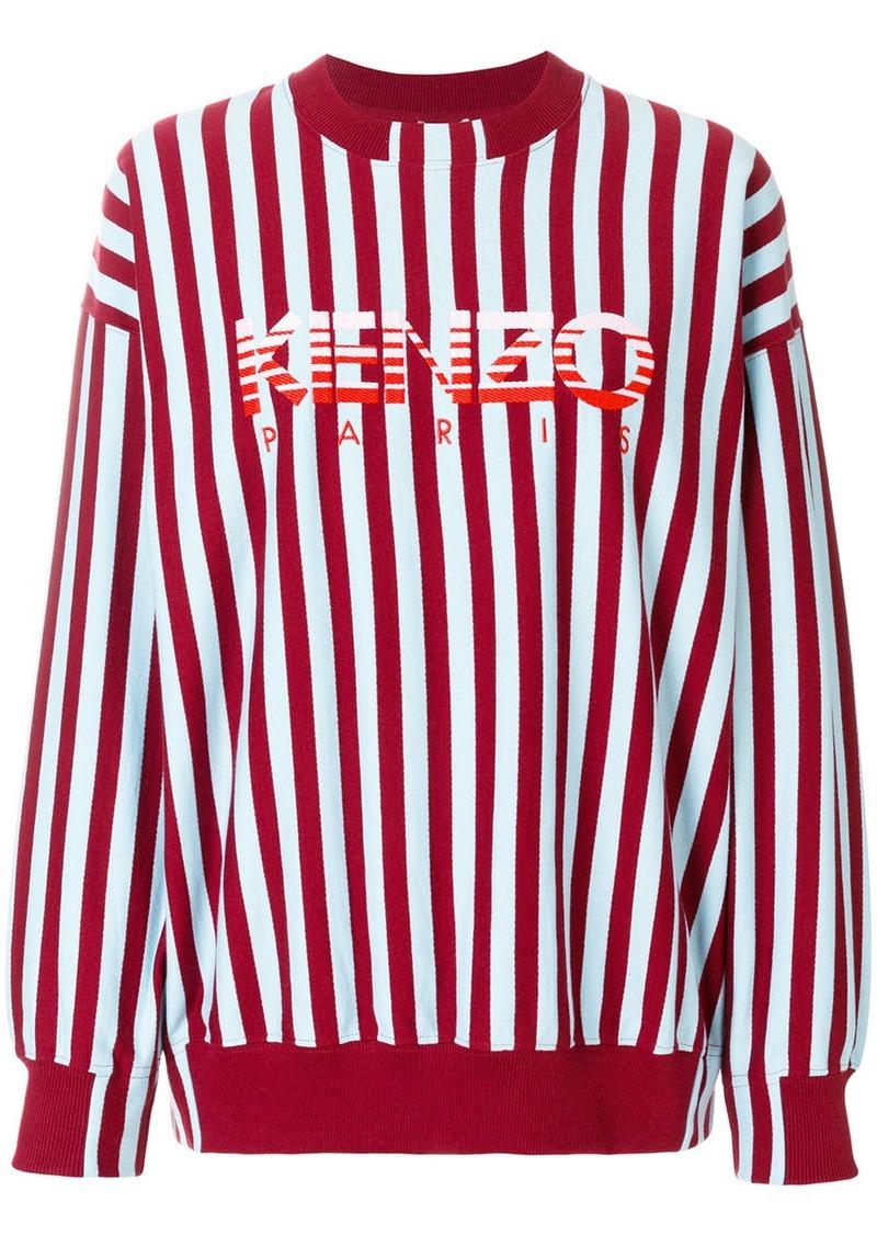1748d68a Kenzo Kenzo striped logo sweatshirt - Blue