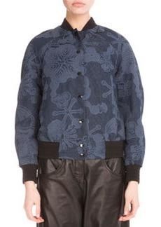Kenzo Tanami Flower Jacquard Bomber Jacket
