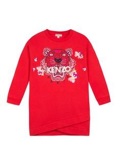 Kenzo Tiger & Flower Sweatshirt Dress  Size 8-12