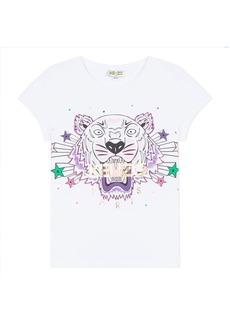 Kenzo Tiger & Stars Graphic Short-Sleeve Tee  Size 8-12