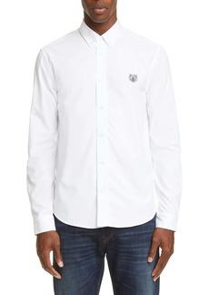 KENZO Tiger Crest Regular Fit Button-Down Shirt