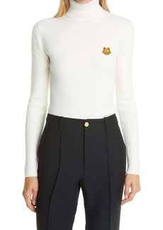 KENZO Tiger Crest Rib Merino Wool Turtleneck Sweater