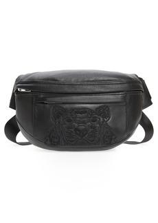 KENZO Tiger Embroidered Leather Belt Bag