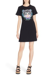 KENZO Tiger Flare Embroidered T-Shirt Dress