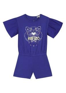 KENZO Tiger Graphic Romper (Toddler Girl, Little Girl & Big Girl)