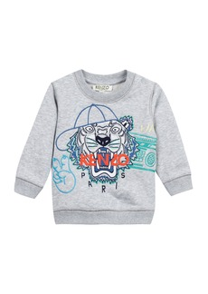 Kenzo Tiger in Baseball Cap Embroidered Sweatshirt  Size 12-18 Months