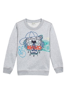 Kenzo Tiger in Baseball Cap Embroidered Sweatshirt  Size 2-4