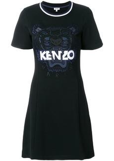 Kenzo Tiger patch T-shirt dress - Black