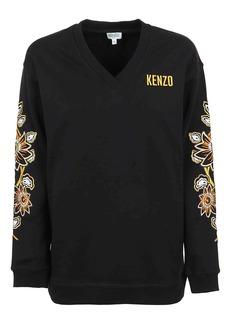 Kenzo V Neck Embroidered Sweatshirt