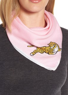 KENZO Walking Tiger Bandana Cotton & Silk Scarf