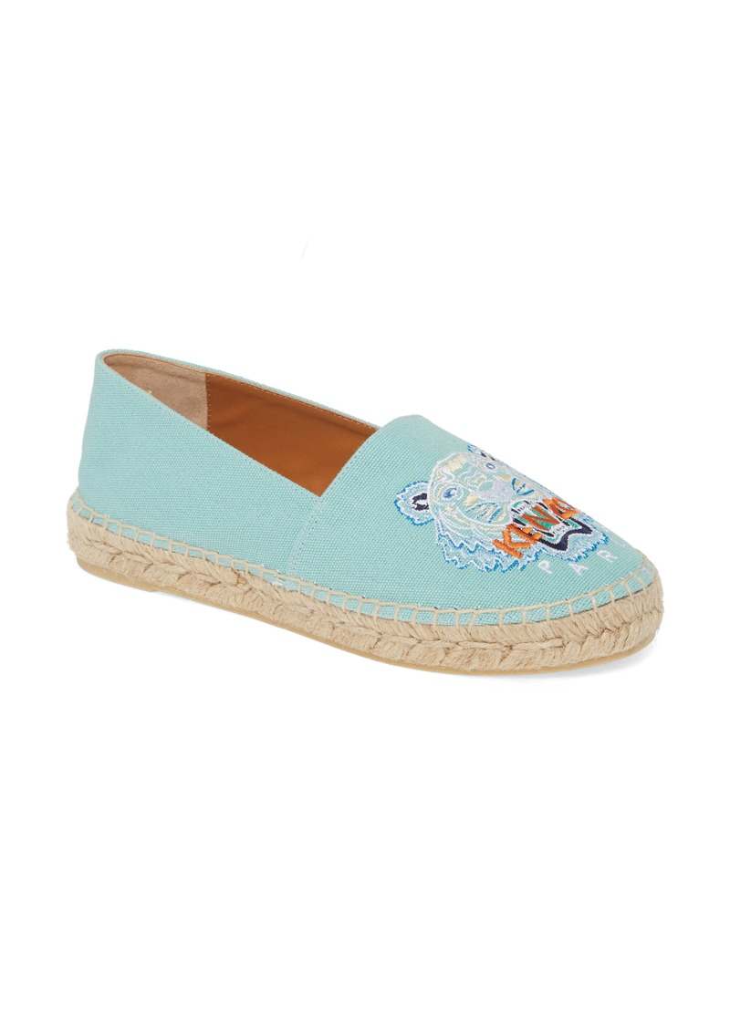 KENZO White Tiger Embroidered Espadrille (Women)