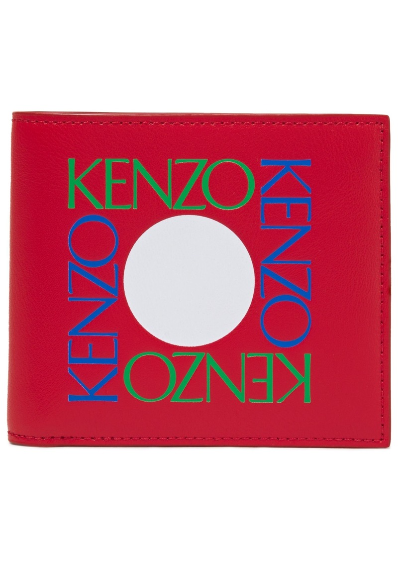 Kenzo Woman Printed Leather Wallet Red